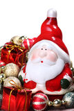 Santa Claus with Christmas decorations Stock Photos