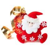Santa Claus and Christmas decorations Royalty Free Stock Photo
