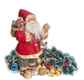 Santa Claus and Christmas decorations Stock Image