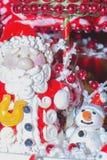 Santa Claus and Christmas decorations Royalty Free Stock Image