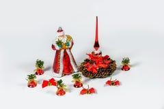 Santa Claus Christmas-Dekorationen Lizenzfreies Stockbild