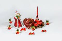 Santa Claus Christmas-Dekorationen Lizenzfreie Stockbilder