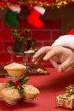 Santa Claus On Christmas Eve Stock Photo