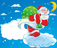 Santa Claus on Christmas Eve Royalty Free Stock Photography