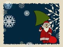 Santa Claus with christmas fir-three Stock Image