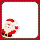 Santa Claus in christmas frame Stock Photos