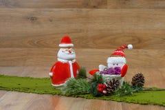 Santa Claus Christmas garneringar Royaltyfria Bilder
