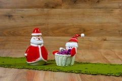 Santa Claus Christmas garneringar Arkivbild
