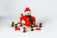 Santa Claus Christmas garneringar Arkivfoto