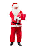 Santa Claus with Christmas Gift stock photos