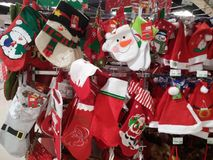 Santa Claus and Christmas gift decorations. Christmas is coming, the mall Santa Claus and Christmas gift decorations and so on. In shenzhen, China Stock Photography