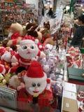Santa Claus and Christmas gift decorations. Christmas is coming, the mall Santa Claus and Christmas gift decorations and so on. In shenzhen, China Stock Photo