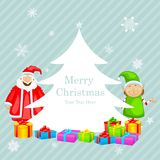 Santa Claus with Christmas gift Stock Photo