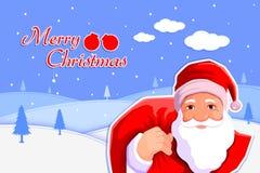 Santa Claus with Christmas gift sack Royalty Free Stock Image