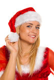 Santa Claus at Christmas with gifts. Stock Image