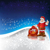 Santa Claus with christmas gifts Royalty Free Stock Photos