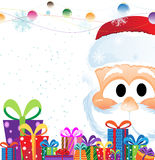 Santa Claus and  Christmas gifts Royalty Free Stock Images