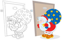 Santa Claus with Christmas gifts Royalty Free Stock Images