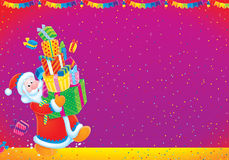 Santa Claus and Christmas gifts Royalty Free Stock Image