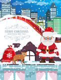Santa Claus with Christmas gifts Royalty Free Stock Photography