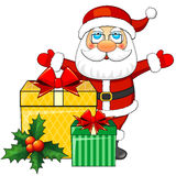 Santa Claus and Christmas gifts Royalty Free Stock Photos