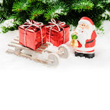 Santa Claus with Christmas gifts Stock Photography