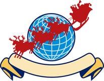 Santa Claus Christmas Globe Reindeer Stock Images