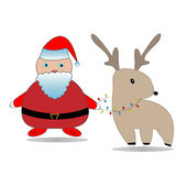 Santa Claus. The Christmas grandfather, the North American fantastic (folklore) character who gives gifts to children for Christmas. Santa Claus's name Stock Image