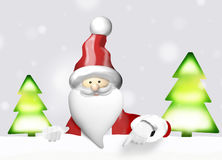 Santa Claus christmas. Graphic illustration Royalty Free Stock Image