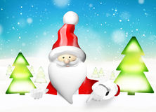 Santa Claus christmas. Graphic illustration Royalty Free Stock Photos