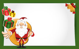 Santa Claus Christmas Greeting Card Stock Photo