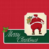 Santa Claus, Christmas greeting card Royalty Free Stock Image