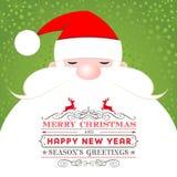 Santa Claus Christmas Greeting Card Arkivbilder