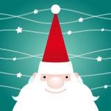 Santa Claus Christmas Greeting Card Arkivbild