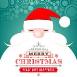 Santa Claus Christmas Greeting Card Royaltyfri Fotografi