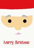 SANTA CLAUS. Christmas greeting with Santa Claus's face close-up vector illustration