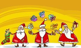 Santa claus christmas group cartoon Stock Photos