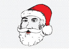 Santa Claus for Christmas hand drawn Royalty Free Stock Images