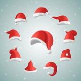 Santa Claus Christmas hats Royalty Free Stock Images