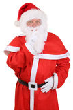 Santa Claus on Christmas having secret isolated Royalty Free Stock Photography