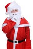Santa Claus Christmas hemlighet Arkivbild