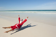 Santa Claus Christmas Holiday Beach Royalty Free Stock Photography