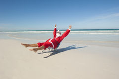 Santa Claus Christmas Holiday Beach V Royalty Free Stock Images