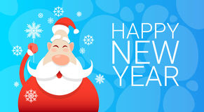 Santa Claus Christmas Holiday Happy New Year Greeting Card Celebration Banner Royalty Free Stock Photo