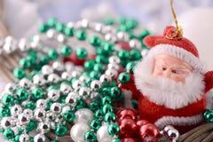Santa Claus, christmas invitation card Stock Photo