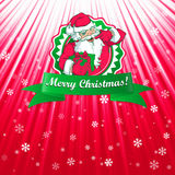 Santa Claus Christmas-kaart Stock Fotografie
