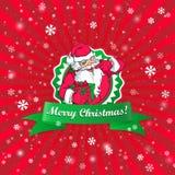 Santa Claus Christmas-kaart Royalty-vrije Stock Foto