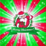 Santa Claus Christmas-kaart Stock Foto