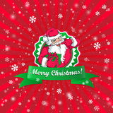 Santa Claus Christmas kort Royaltyfri Foto