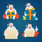 Santa claus set Royalty Free Stock Images